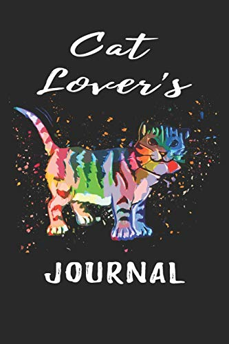 Cat Lover's Journal: Cool Novelty Cat Gifts: Lined Journal with Unique Customized Interior Pages ~ Art Cat -