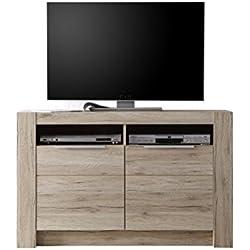 Maisonnerie 1317-866-90 Cougar Meuble TV Armoire Chêne de San Remo LxHxP 113 x 72 x 40 cm
