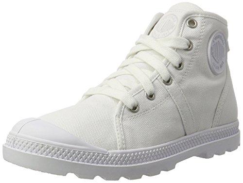 Palladium Damen Pallabrouse Mid Lp Sneaker Weiß (White/White/Dull Silver)
