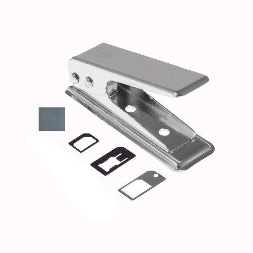 Aerb Nano Carte Sim Cutter Mini /Standard & Micro à Nano Sim pour iPhone 5 iPhone 4, 4S et Autres Téléphones + Plateau Métallique + 2 Sim Adaptateurs + Papier à Poncer, Tous dans un Paquet