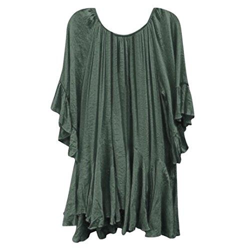 VJGOAL Women Summer Boho Ruffle Shirts Butterfly Short Sleeve Irregular Tops Ladies Blouse T Shirts
