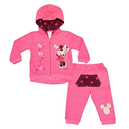 Minnie Mouse Disney Baby Mädchen Sport-Anzug in Größe 74 80 86 92 98 104 110 116 122 *Verschiedene Modelle* Baumwolle Trainings-Anzug mit Joggers Farbe Modell 2, Größe 98