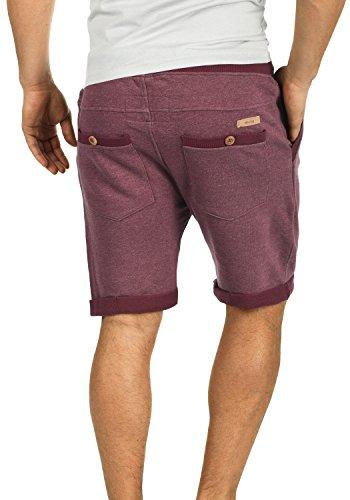 INDICODE BillyShorts Herren Sweat-Shorts kurze Hose Sport-Shorts aus hochwertiger Baumwollmischung Wine (227)