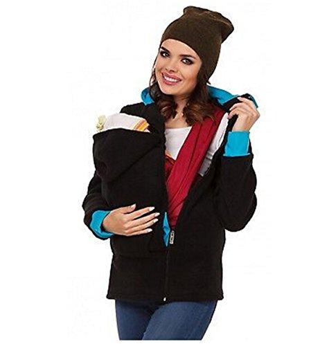 Fleecepullover Kapuzen mit Baby Träger für Umstandskleidung,CRAVOG Mutterschaft Oberbekleidung Schwangerschaftsmutter Schwangere Hoodie Pullover