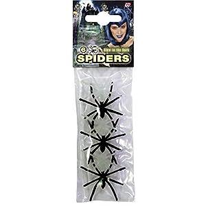 WIDMANN Arañas negras fosforescentes Halloween - Única