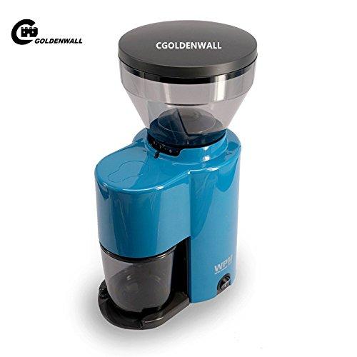 cgoldenwall zd-10Elektrische Schleifmaschine Halbautomatischer Kaffeebohnen Mühle-Frässtifte Kaffee Pfeffermühle Mutter und Spice Maker - blau