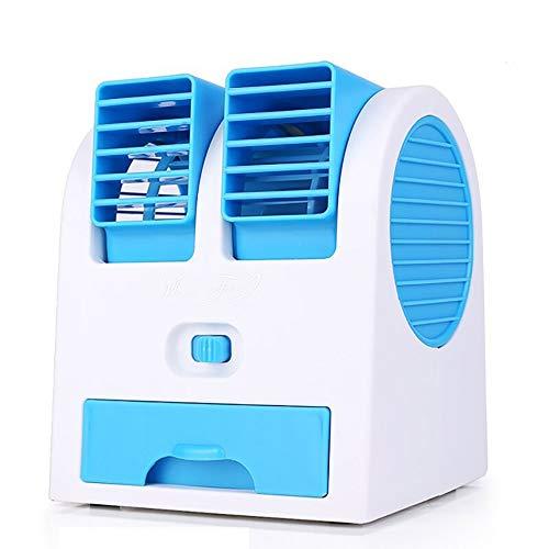 HSQA Befeuchtungsspray Mini-Ventilator Bürodesktop Kleiner blattloser USB-Ventilator Batteriekühlung Klimaanlagenventilator