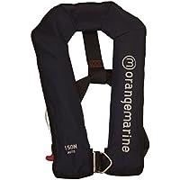 ORANGEMARINE Gilet de sauvetage gonflable automatique avec harnais 150 N