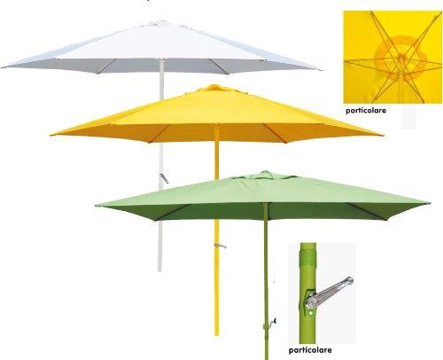 Yellow umbrella aluminium cm.200x300