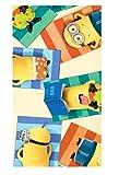 Minions Bambini - Asciugamano/Telo da Sauna/Telo da Spiaggia/Asciugamano da Bagno- 100% Cotone, Mehrfarbig Minion 02, 70 x 140 cm
