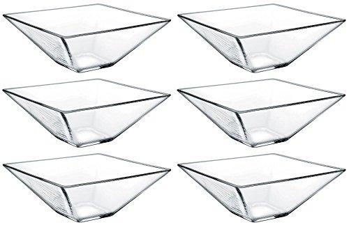idea-station 6 pezzo quadrato ciotola di vetro