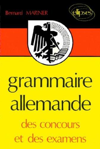 Grammaire allemande par Marinier Bernard