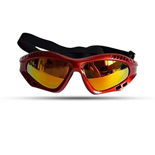 FOONEE Hundesonnenbrille, Haustier-Brille, UV-Schutz-Sonnenbrille, winddichter Schutz, Hunde-Sonnenbrille, für mittelgroße oder große Hunde rot