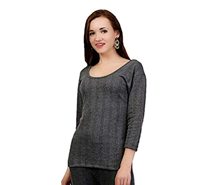 ZIMFIT Cotton Women's or Girls Winter wear Full Sleeves Thermal,Warmer Top in Dark Grey Colour (Pack of 1)