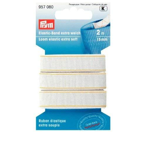 PRYM 15mm 2m Extra Loom Elastic, Weiß