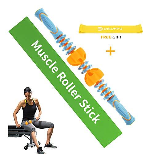 Rullo Massaggio Muscolare - Bastone Rullo Massaggio Rimovibile per Sollievo da Dolori Muscolari, Lesione, Crampo, Massaggio, Terapia Fisica & Recupero del Corpo di DISUPPO