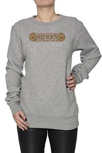 Deep North Adventure Donna Grigio Felpa Felpe Maglione Pullover Grey Women's Sweatshirt Pullover Jumper