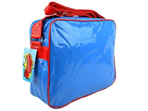 Olio leggero e borsa Messenger-Borsa a tracolla Unisex, Wham Zap Boom Pow Multicolore BOOM WHAAM