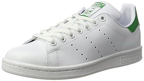 Adidas Stan Smith W, Women's Low-Top Sneakers, Off White (Ftwbla/ftwbla/verde), 5.5 UK (38 2/3 EU)