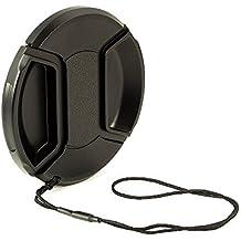 BlueBeach 40.5mm de alta calidad tapa del objetivo - Ajustar el videoclip con cadena para Videocámaras, Cámaras - Canon, Nikon, Olympus, Panasonic, Pentax, Samsung, Sony, Leica etc.