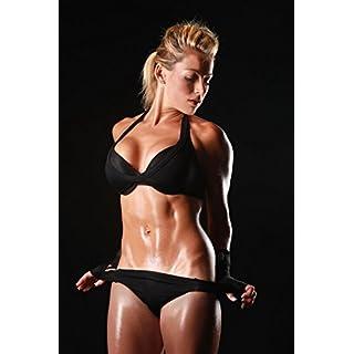 XXL Poster Fototapete selbstklebend Fitness sexy Lady sepia, schwarz weiß oder color (80 x 100 cm, color)