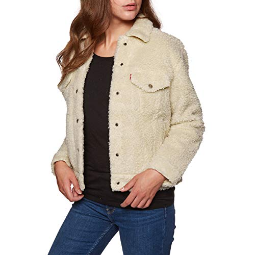 Levi's  All Over Sherpa Trucker W Jeansjacke cloud cream (Frauen Levi Mäntel)
