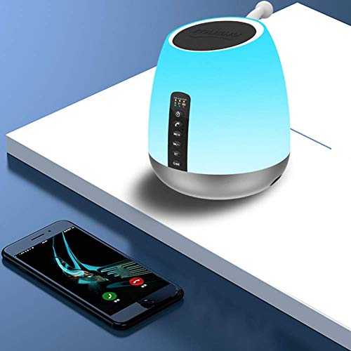 Bluetooth Wake-Up Light FM Bluetooth Connection Three Support IC Card Rhythm Light Breathing Light Wake Light Up Light Multi-Touch USB Color Portable Table Lamp
