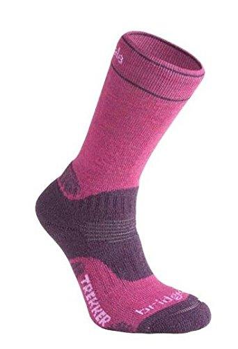 Bridgedale Women's Wool Fusion Trekker Cuped Socken New Style Rosa beere Size 3-4.5 (4.5 Fusion)