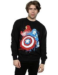 Marvel Men's Captain America Civil War Painted Vs Iron Man Sweatshirt
