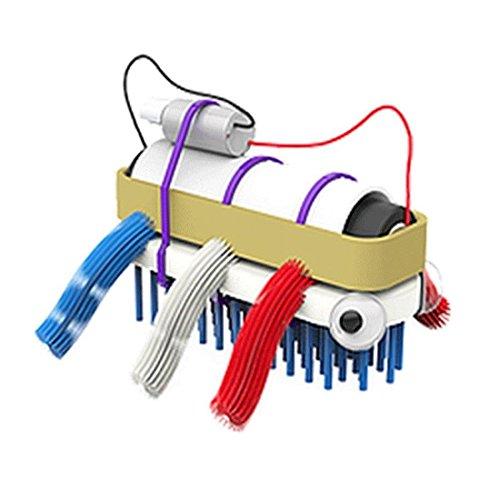 Bristlebot Kit - Mein erster Roboter I Miniroboter zum Selber Bauen Do It Yourself Bürstenroboter mit Vibrations-Motor Robotik-Bausatz für Kinder (Geschlossene Motor)