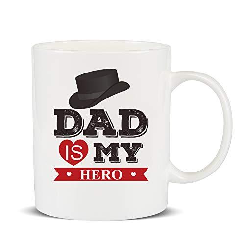 Lihao tazza papà speciale 400ml, mug papà tazze di caffe in ceramica, regali per la festa del papà, anniversario, natale