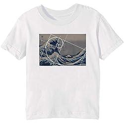 camiseta hokusai fibonacci la gran ola