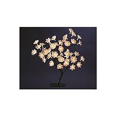 Idea Regalo - Decorazioni natalizie - Albero con fiori luminosi in fibra ottica 48 LED bianco caldo - Altezza 50 cm .