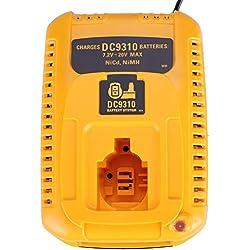 Pour Dewalt Chargeur de Batterie DC9310 7.2V-18V Batterie Ni-Cd & Ni-Mh DW9057 DC9071 DC9091 Chargeur De Batteia
