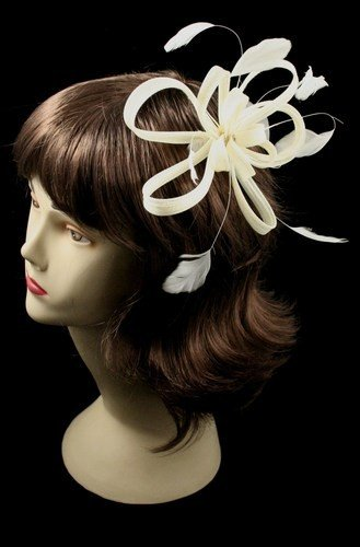 Bibi chapeau pour mariage, cérémonie ou costume burlesque très chic-8566