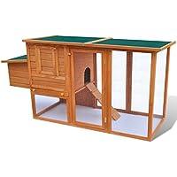 Xingshuoonline Hühnerstall aus Holz für den Außenbereich mit Fach für Eier, Käfig für Haustiere