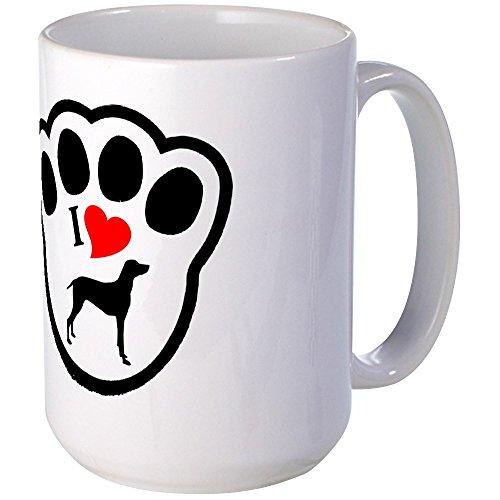 CafePress–Deutsch Kurzhaar Pointer Tasse groß–Kaffee Tasse, groß 15Oz Weiß Kaffee Tasse Large weiß