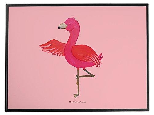 Mr. & Mrs. Panda Schreibtischunterlage Flamingo Yoga - 100% handmade in Norddeutschland - Yoga,...