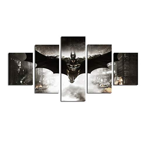 Leinwanddrucke 5 Stück HD Gedruckt Batman Film DC Comics Superheld Poster Room Decor Malerei Wandkunst Ungerahmt