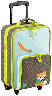 LÄSSIG Kinder Trolley Kindergepäck Reisekoffer mit Packriemen und Rollen / Kids Trolley, Little Tree