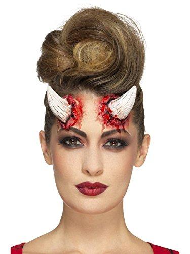 Smiffys Latex Dämon Teufel Hörner mit Klebemittel Halloween Kostüm Zubehöhr