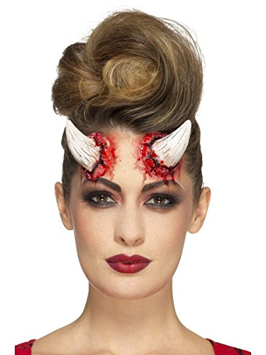 Hörner mit Klebemittel Halloween Kostüm Zubehöhr (Kostüm Dämon Hörner)