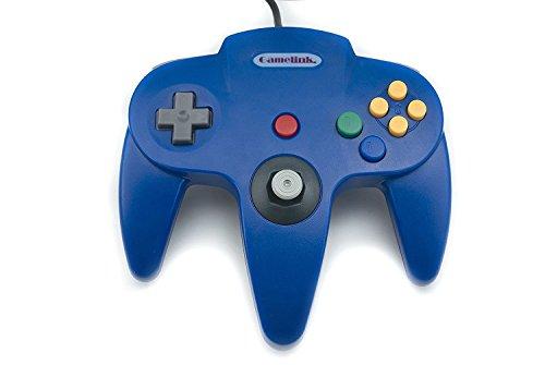 Childhood Retro Classic USB Controller Gamepad Joysticks für N64 Style PC MAC Blau (Nintendo 64-controller Blau)
