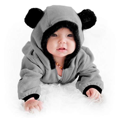 Cuddle Club Baby Erstausstattung aus Fleece Baby Body für Neugeborene bis 4 Jahren - Baby Strampler - Baby Kleidung / Kinder Pyjama Winterjacke - - Kostüm Für Kleinkind Und Mama