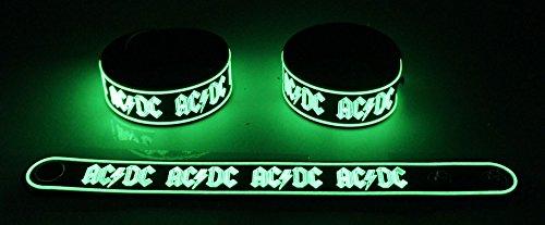 AC/DC Nuovo. Si illuminano al buio braccialetto Bracelet ADC 6G