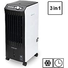 Climatiseur 3 en 1 - 4 roues - Ventilateur Climatiseur humidificateur purificateur d'air - Rotation automatique - Maison