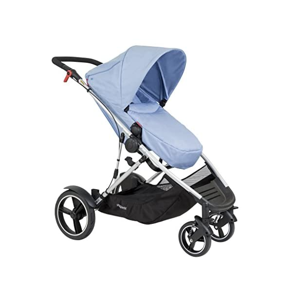 phil&teds Voyager Buggy Pushchair, Blue phil&teds 4-in-1 modular seat with four modes: parent facing, forward facing, lay flat bassinet (on buggy) and free standing bassinet (off buggy) Revolutionary stand fold with 2 seats on Double kit easily converts to lie flat mode as well 11