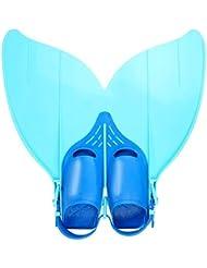 Besmall Meerjungfrau Schwimmflossen Monoflosse für Jugendliche –Tauchflossen Schwanzflosse