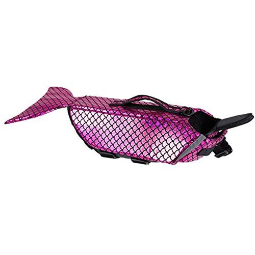 TDFGCR Pet Dog Life Schwimmen Jacke Float Weste Auftrieb Hilfe Weste Kostüm Kleidung-Rosa m