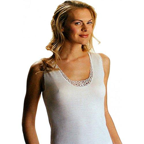 Maglia intima Donna Lana e cotone spalla larga Taglie 4/M-5/L-6/XL-7/XXL 896